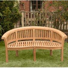 Windsor Curved 3 Seater Teak Bench