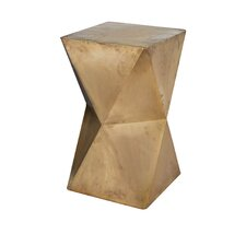 Lankin Faceted Stool with Brass Cladding
