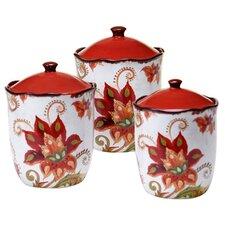 Spice Flowers 3-Piece Storage Jar Set
