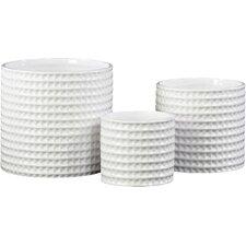 3-Piece Ceramic Pot Planter Set