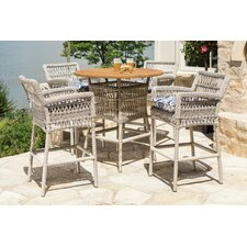 Mackinac 5 Piece Bar Set with Cushions
