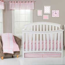 Pink Sky 3 Piece Crib Bedding Set by Trend Lab
