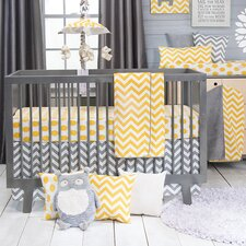 Swizzle 3 Piece Crib Bedding Set