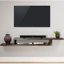 "Ascend 72"" Asymmetrical Wall Mounted TV Component Shelf"