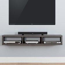 "60"" Shallow Wall Mounted TV Component Shelf"