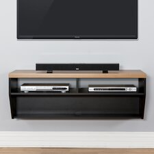 """48"""" Angled Sides Wall Mounted TV Component Shelf"""