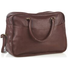 "18"" Leather Overnight Travel Duffel"