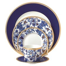 Hibiscus Bone China 5 Piece Place Setting, Service for 1