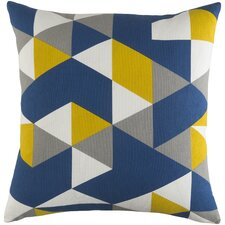 Arsdale Geometry Cotton Throw Pillow Cover