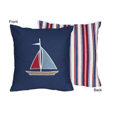 Nautical Nights Cotton Throw Pillow