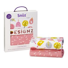 Snuz Little Tweets 100% Cotton Crib Fitted Sheets Set