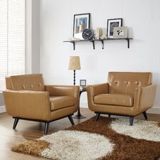 Saginaw Leather Arm Chair (Set of 2) by Corrigan Studio®