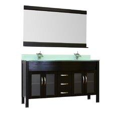 Elite 60 Double Modern Bathroom Vanity Set by Alya Bath