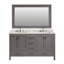 Halcomb 60 Double Vanity Set with Mirror by Red Barrel Studio