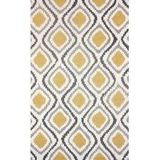 Mosca Hand-Woven Yellow/Gray Area Rug