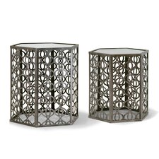 Abrianna 2 Piece Nesting Tables by Glamour Home Decor