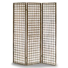 abbey 706 x 567 metal frame folding screen effect 3 panel room divider