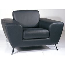 Alonso Leather Club Chair by Wade Logan