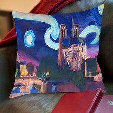 Markus Bleichner Mendosa Starry Night in Paris Throw Pillow