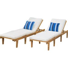 Ardsley Chaise Lounge with Cushions (Set of 2)