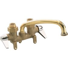 Double Handle Wall Mounted Tray Faucet