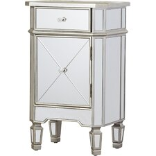 Rhiannon 1 Drawer Mirrored Cabinet by House of Hampton®