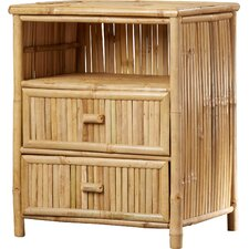 Porter Bamboo 2 Drawer Nightstand by Bay Isle Home