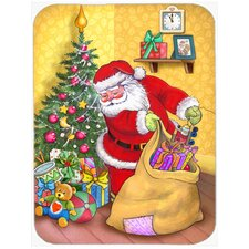 Christmas Santa and His Toys Glass Cutting Board