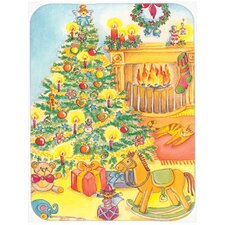 Toys around the Christmas Tree Glass Cutting Board