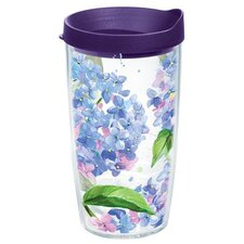Garden Party Hydrangeas Tumbler with Lid