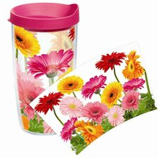 Garden Party Daisy Tumbler with Lid