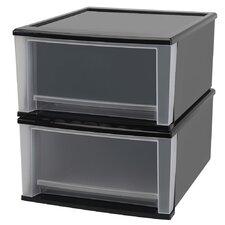 """Wayfair Basics 18.9"""" W Stacking Storage Drawer (Set of 2)"""