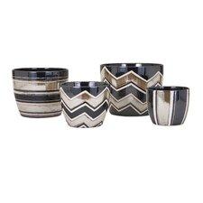 Arden 4-Piece Ceramic Pot Planter Set