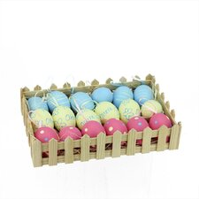 18 Piece Spring Easter Egg Ornament Set