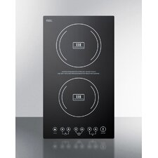 """11"""" Induction Cooktop with 2 Burners"""