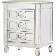 Rhiannon Mirrored 3 Drawer Accent Chest by House of Hampton®