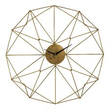 "24"" Angular Wirework Wall Clock"
