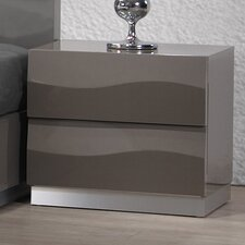 Delhi 2 Drawer Nightstand by Chintaly Imports