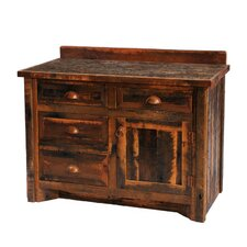 Reclaimed Barnwood 36 Bathroom Vanity by Fireside Lodge