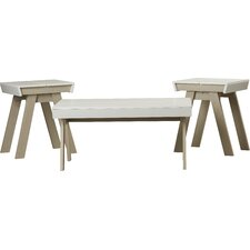 Printers Row 3 Piece Coffee Table Set by Varick Gallery