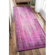 Remade Overdyed Violet Area Rug