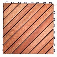 30 cm x 30 cm Bodenfliese Decktile aus Holz