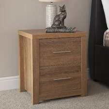 Henrick 2 Drawer Bedside Table