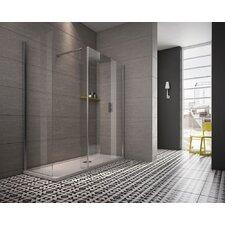 Worcester 109cm W x 1.6cm D x 200cm H Rectangular Walk In Shower Enclosure