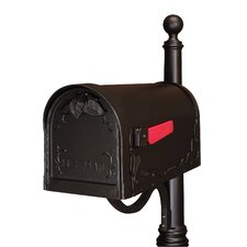 Floral Post Mounted Mailbox