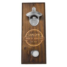 Personalized Dad's Brew House Wall Mount Bottle Opener