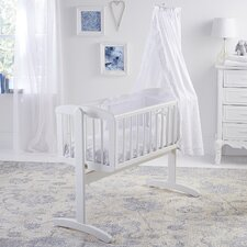 Broderie Anglaise 4-Piece Rocking Cot Bedding Set