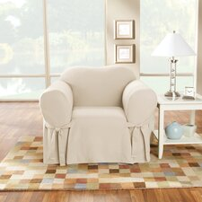Cotton Duck Box Cushion Arm Chair Slipcover by Sure Fit