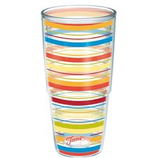 Fiesta Poppy Stripes Insulated Tumbler