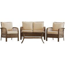 Niceville 4 Piece Deep Seating Group with Cushion by Beachcrest Home™